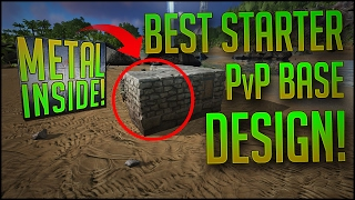 BEST STARTER PvP BASE DESIGN?   Cheap, Upgradeable U0026 Compact   ARK PvP  Building