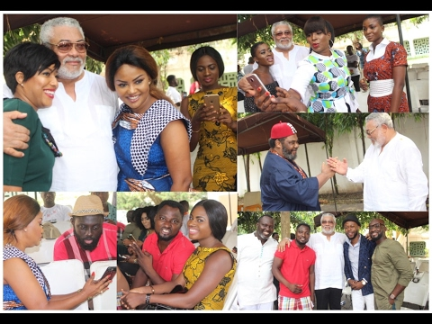 Image result for This is what happened when cast of Kofas Media new movie visited ex Prez. Rawlings