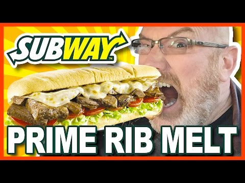 Subway Prime Rib Melt Review (What are you eating for lunch today?)