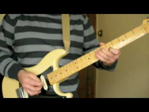 Fender Bullet S3 Guitar Demo - Rhodes To Nowhere Blues in Am.
