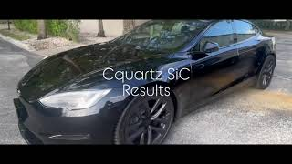 2021 Tesla Model S paint correction and Ceramic coating.
