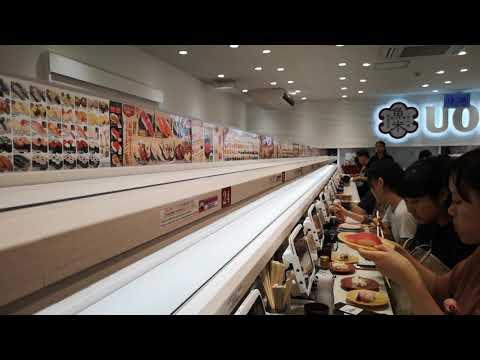 Uobei Sushi en Shibuya, Tokio