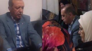 Cumhurbaşkanı Erdoğan şehidin evinde Kur'an okudu