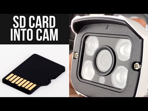 How To Insert Micro SD Card / TF Card Into 1080P HD Wireless CCTV Bullet WIFI Audio Outdoor Camera