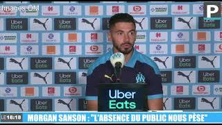 """OM : """"L'absence du public nous pèse"""" au Vélodrome, avoue Sanson"""