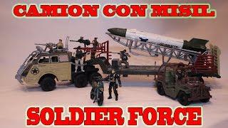 true heroes camion de guerra soldier force juguetes