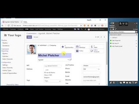 3CX-OpenERP (Odoo) integration | 3CX - Software Based VoIP IP PBX / PABX