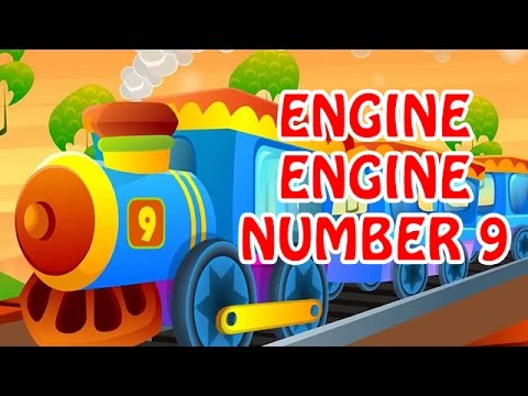 engine engine number 9 animated nursery rhyme in english language