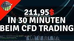 CFD-Trading: 211.95$ am Montagvormittag verdient! Echte Vorführung!