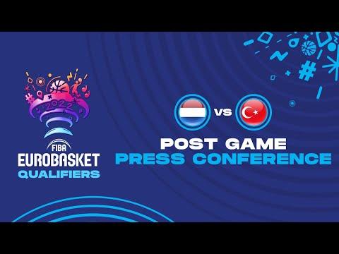 Netherlands v Turkey - Press Conference - FIBA Eurobasket Qualifiers 2022