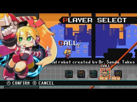 Mighty Gunvolt Burst (Switch) Call DLC Campaign (Mighty No. 9) - First Look - Gameplay