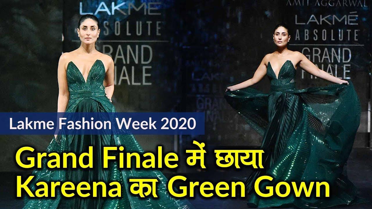 Lakme Fashion Week 2020: Finale में छाया Kareena का Green Gown, Mithali Raj ने किया Ramp Debut