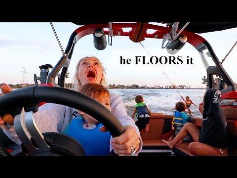 Baby Accidentally Drives The Boat! (Khoa falls)