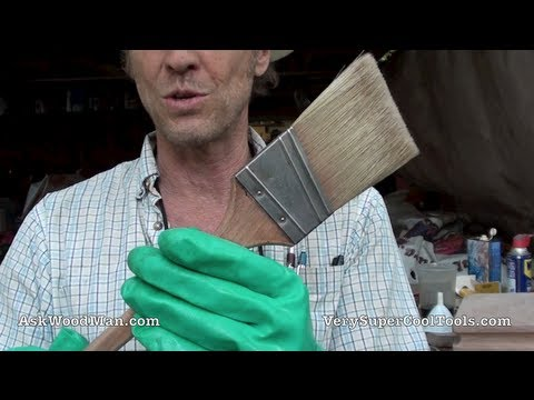 HOW TO CLEAN A PAINT BRUSH  - Oil Based