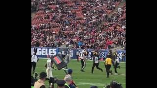 Rams fan runs onto field! MUST WATCH! 😂