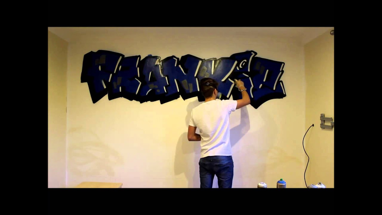 Graffiti bedroom 1 my little cousin by cero youtube for Graffiti style bedroom designs