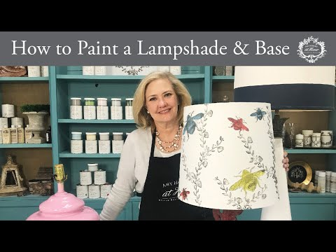 How to Paint a Lampshade and Base: Lamp Tutorial (Works on Glass, Metal, Wood, and Plastic Lamps!)