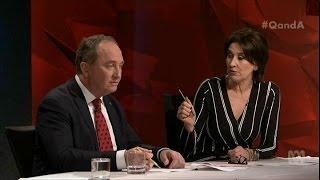 Barnaby Joyce Turns the Tables on Virginia Trioli