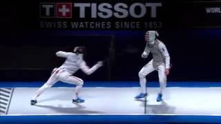 Ota vs Meinhardt  Moscow 2015 world Championship men's foil semi final
