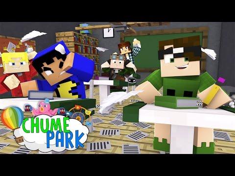 Minecraft: ESCOLA NO MINECRAFT?! (Chume Park #10)