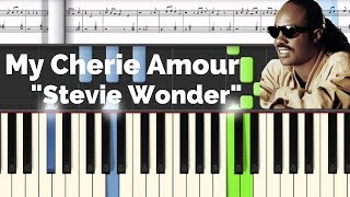 My Cherie Amour - Stevie Wonder | Lyrics | Synthesia Piano Tutorial