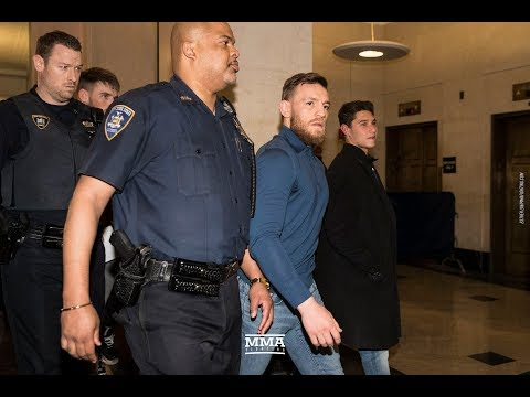 Conor McGregor Exits Courthouse After Hearing For UFC 223 Bus Attack - MMA Fighting