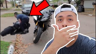 MY FIRST TIME RIĎING A MOTORCYCLE YAMAHA R6!! (600CC)