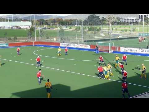England 3 Australia 3 Mens over 40 world cup masters hockey, Canberra, australia 2016