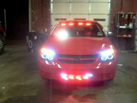 Red Lights And Halo Headlights On 2008 Chevy Cobalt - YouTube