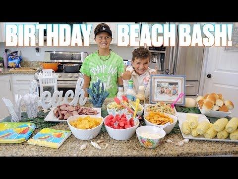 BEACH THEMED BINGHAM BOYS BIRTHDAY PARTY