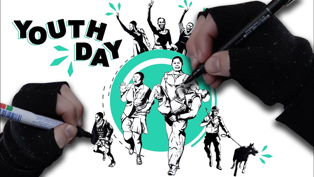 June 16 Youth Day Drawing Tribute Time Lapse Michael Cost Youtube