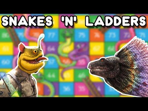 SNAKES 'N' LADDERS , ARK MINI GAMES!!   ARK: SURVIVAL EVOLVED