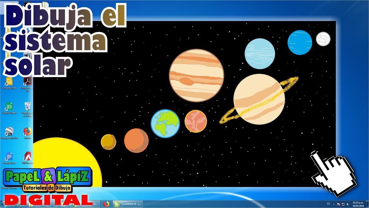 Cómo Dibujar El Sistema Solar Y Sus Planetas En Paint