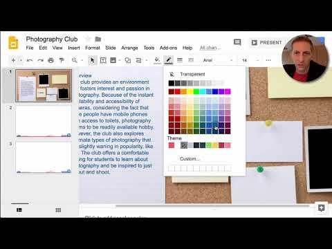 google presentation slides tutorial