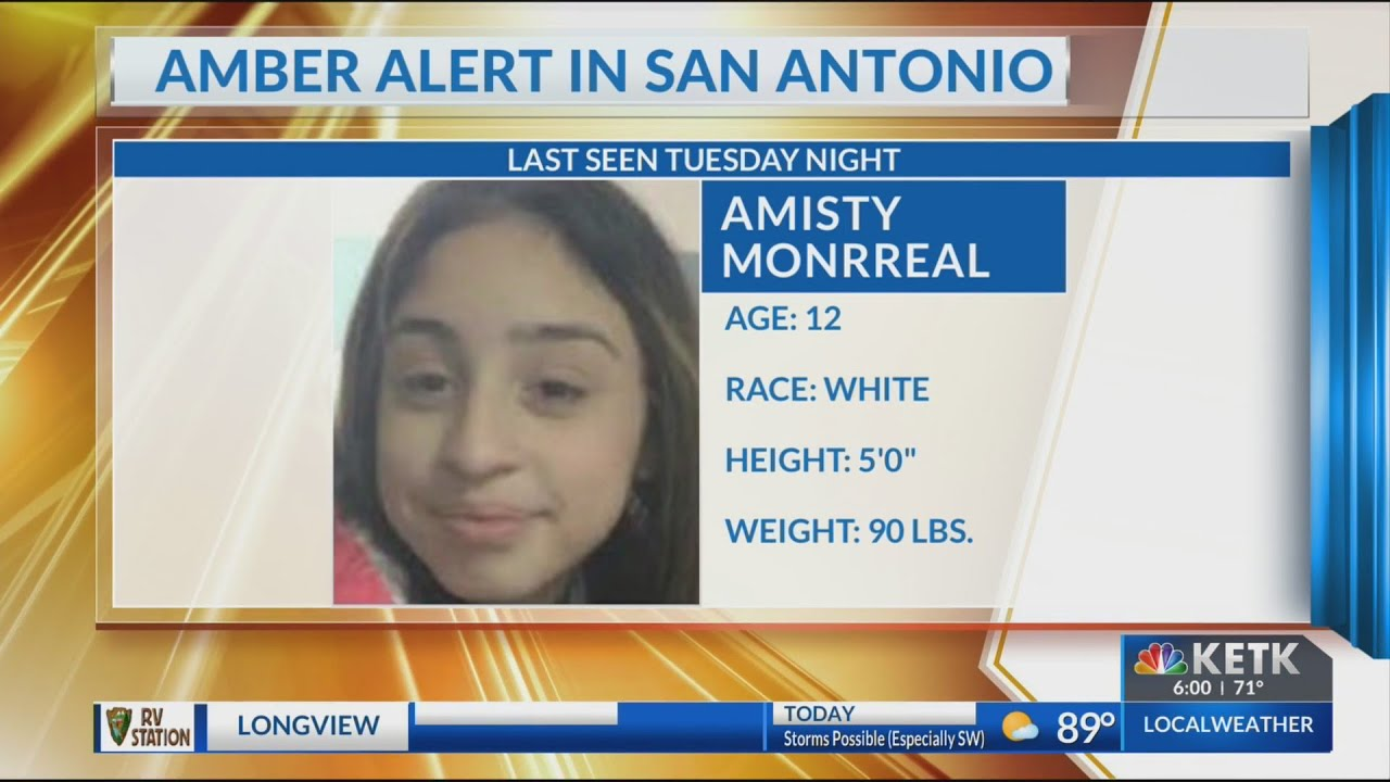 Amber Alert Issued For Abducted Texas 12 Year Old Girl Youtube