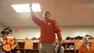 Dabo Swinney Rousing Locker Room Speech After ACC Championship Win (2016)