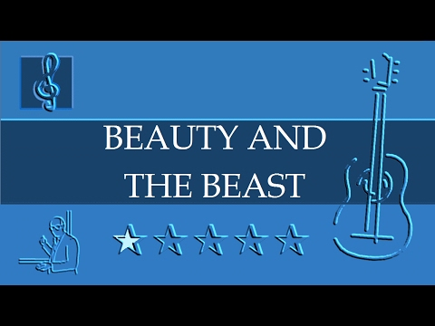Acoustic Guitar TAB - Beauty And The Beast - Disney (Sheet Music)