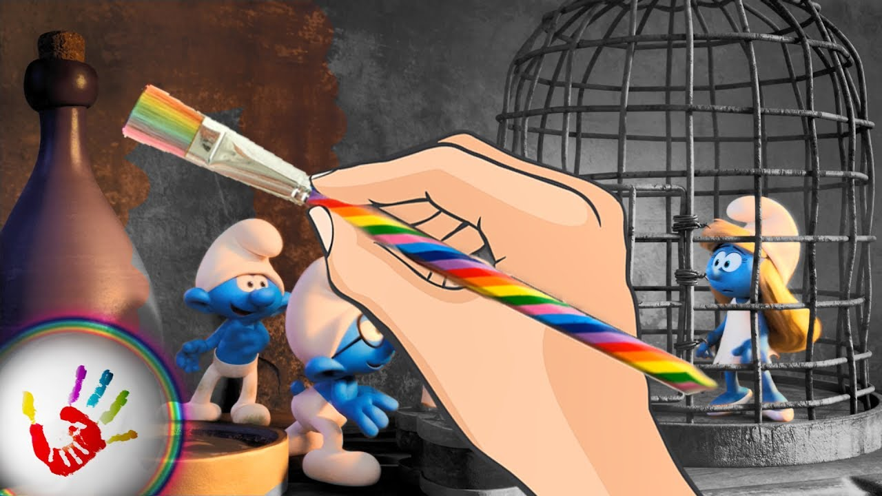The Smurfs Lost Village Smurf Clumsy Hefty And Brainy Free Smurfette Coloring