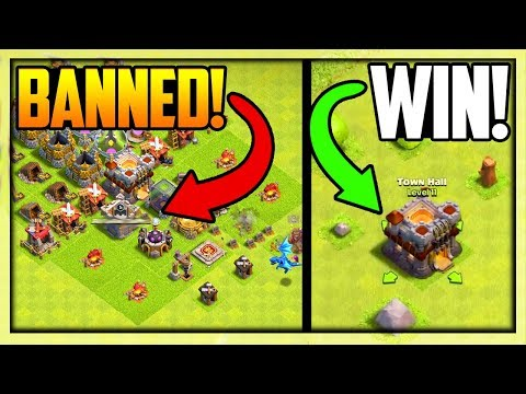BANNED After I Attacked Him! Clash Of Clans MOST RUSHED Town Hall EVER!