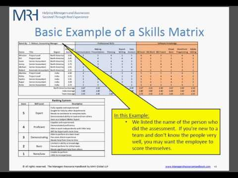 How to make  skills matrix for your team also youtube rh