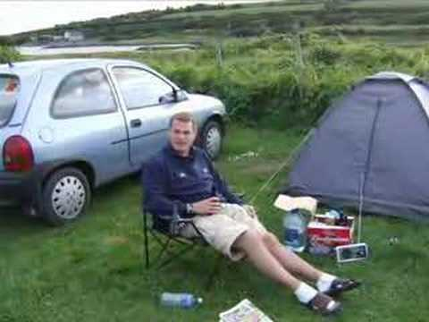 Backpacking YAYA camping in Galway