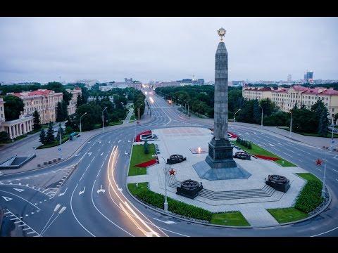 Минск на машине экскурсия. Minsk excursion from str.Kijevatova to the shopping center.Korona.