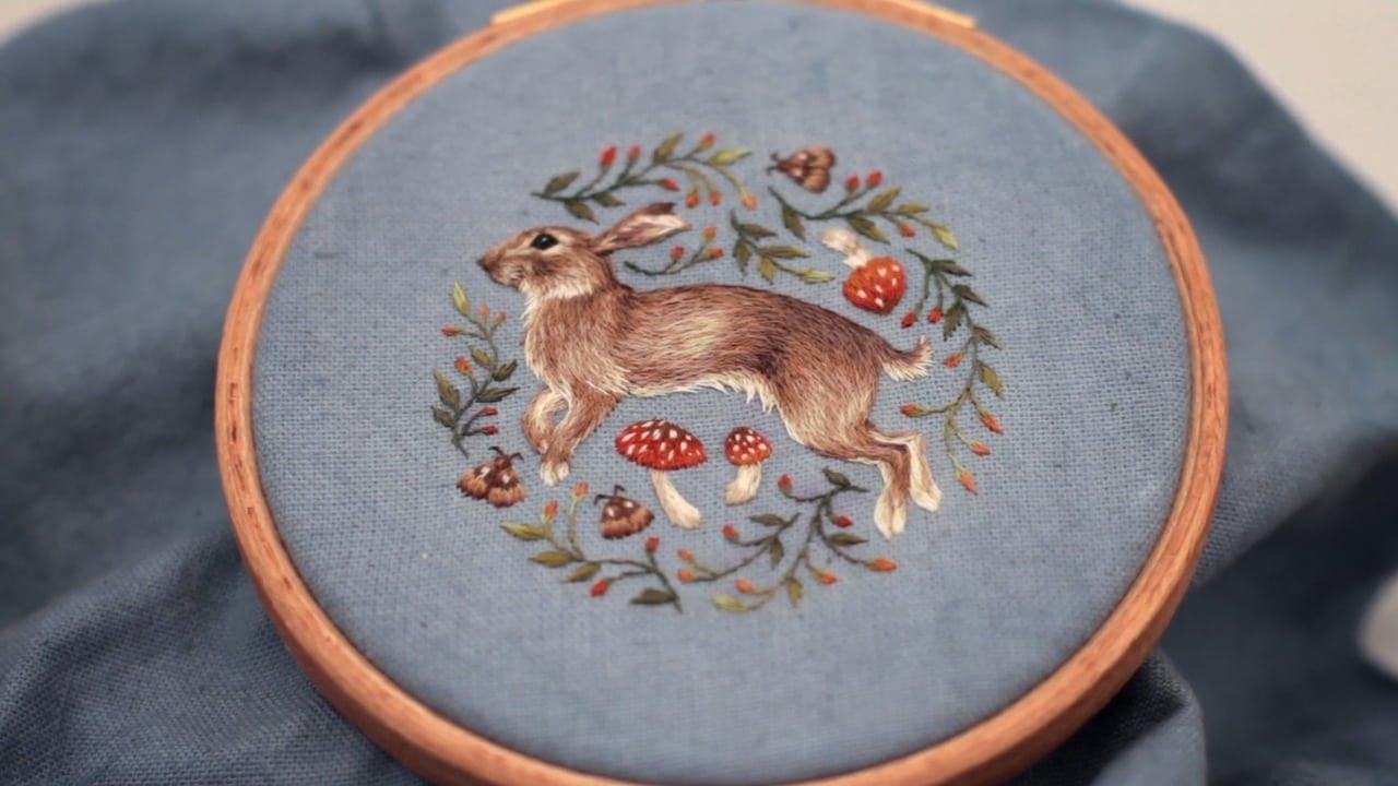 Freehand Embroidery Chloe Giordano Youtube