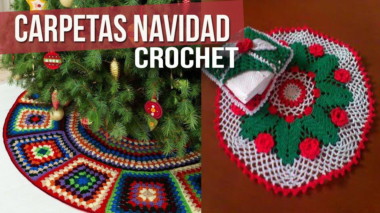 Carpetas de navidad para mesa tejidas a crochet - Ideas para hacer manteles ...