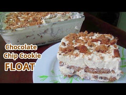 Chocolate Chip Cookie Float | Ice Box Cake | No Bake Dessert