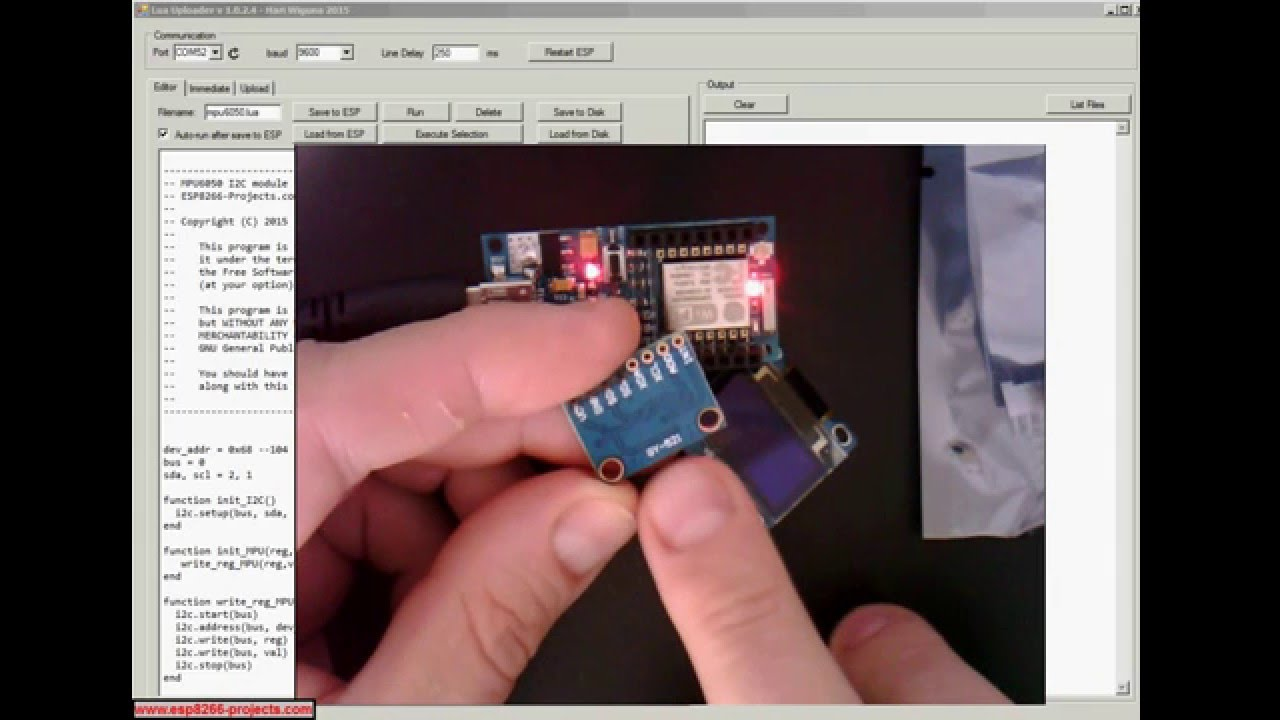 MPU6050 - I2C Driver - Init / connecting with ESP8266 nEXT EVO Board by MCU  Projects World