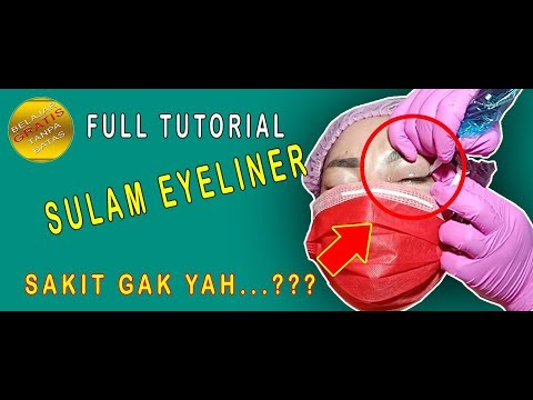 Full tutorial sulam eyeliner - eyeshadow embroidery Mp3