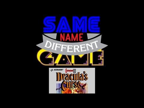 Same Name, Different Game: Castlevania III: Dracula's Curse (NES vs. Famicom)