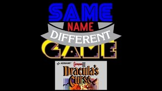 Same Name, Different Game: Castlevania III: Dracula