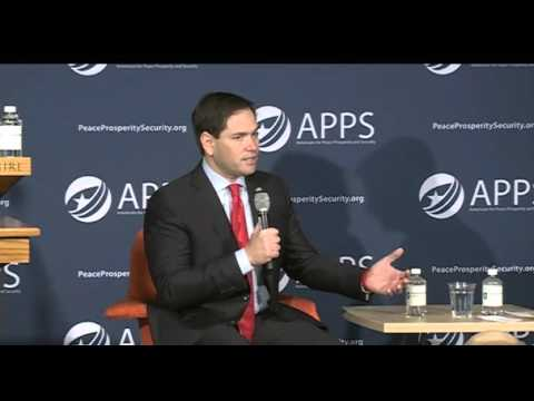 Marco Talks National Security At The APPS Forum | Marco Rubio for President